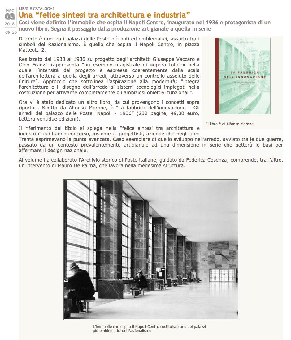 La fabbrica dell innovazione letteraventidue for Industria italiana arredi